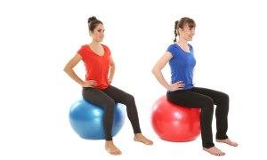 Похудение спомощью упражнений нафитболе