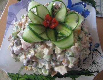 Греческий салат с сыром калории
